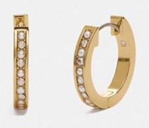 Klassische Huggie-Ohrringe mit Kristallperlen