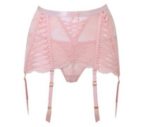 Peachy Roll On Suspender In Leavers Lace