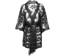 Daniela Kimono In Black Leavers Lace