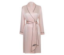 Classic Dressing Gown In Pink Silk