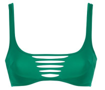 Dakotta Bikini Cage Top In Emerald Green; Dakotta Bikini Top In Emerald Green