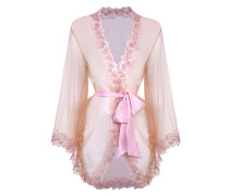 Lindie Gown In Pink And Peach With Silk Satin Sash