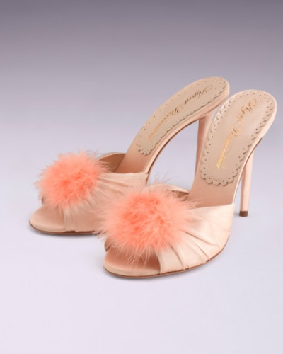 Agent Provocateur Damen Elice Mule High Heels In Blush Satin