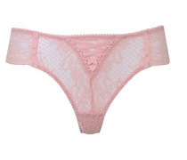 Peachy Brief Vintage Design In Leavers Lace