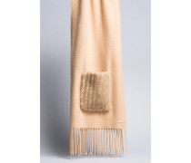 Schal mit Taschen aus Pelzimitat
