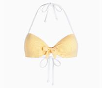 Push-Up-Bikinitop Mit Vichymuster