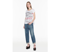 Jeans Mit Strasstaschen