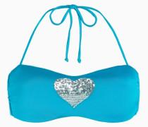 Bandeau-Bikinitop Mit Herzen