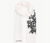 Schal Mit Blumen
