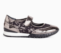 Twinset Metallic-Turnschuh
