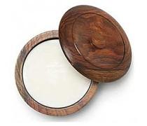Sandalwood Shaving Soap in Wooden Bowl 100g