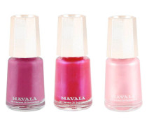 Traditional Nail Colour Trio - Pretty Fuchsia, Candy Pink & Rose