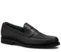 Loafers aus Leder und Lammfell
