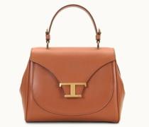Mini-Handtasche aus Leder