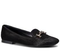 Slippers aus Leder in Ponyfell-Optik