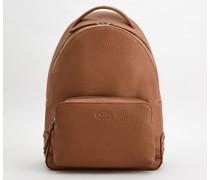 Mittelgroßer Rucksack aus Leder