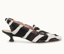 Slingbacks aus Leder