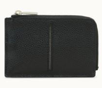 Kreditkartenetui mit Reißverschluss aus Leder