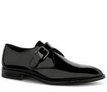 Monk Straps aus Lackleder