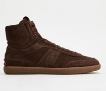Tabs Sneakers High-Top aus Veloursleder