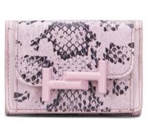 Portemonnaie aus Reptilienleder und Leder