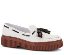 Loafers aus Leder in Ponyfell-Optik