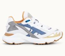 Sneakers aus Leder und technischem Gewebe