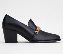 Loafer mit Absatz aus Leder