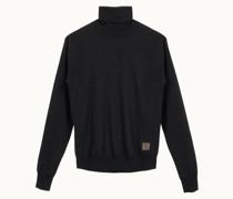 Pullover mit hohem Kragen aus Kaschmir