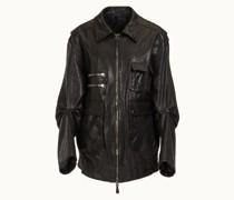 Field Jacket aus Leder