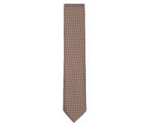 Orangefarbene Krawatte mit großem Muster