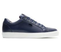 Marineblaue Sneakers aus Kalbsleder