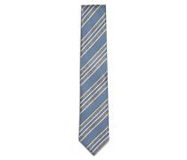 Krawatte mit marine- und himmelblauen Regimentstreifen