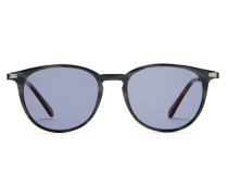 Night & Day Panto-Sonnenbrille im Retro-Stil in Grau und Havanna