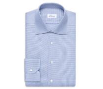 Formelles Hemd in Blau und Weiß mit kleinem Muster