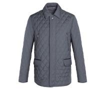 Gesteppte Field Jacket in Grau-Mélange