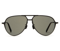 Sonnenbrille in Titanschwarz, Tropfenform