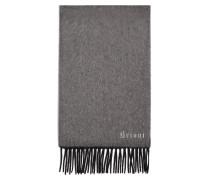 Doubleface-Schal aus Kaschmir in Anthrazit und Grau