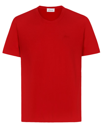 Rotes T-Shirt mit Logo