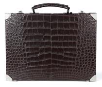 Äußerst schmaler Aktenkoffer aus Krokodilleder
