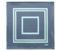 Einstecktuch mit geometrischem Muster in Blau und Bleifarben