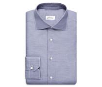 Formelles Hemd in Marineblau mit Grisaille-Effekt