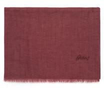 Bordeauxroter Schal aus Leinen