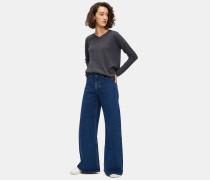 Pullover mit V-Ausschnitt aus superfeiner Geelong-Merinowolle