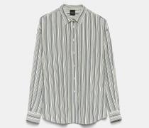 Gestreiftes Hemd aus elastischem Chinakrepp