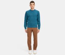 Pullover mit Rundhalsausschnitt aus Donegal-Tweed-Wolle