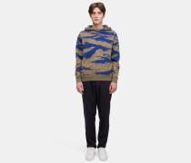 Camouflage-Pullover aus Baumwollkaschmir
