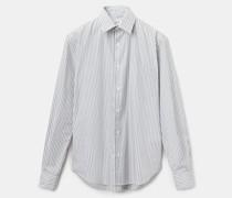 Klassisches gestreiftes hemd aus popeline