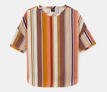 T-shirt mit mehrfarbigem streifenmuster