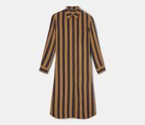 Langes blusenkleid in vintage-knitteroptik